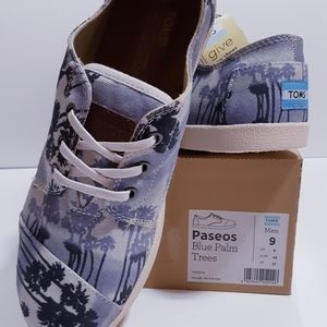 TOMS Paseos Blue Palm Trees